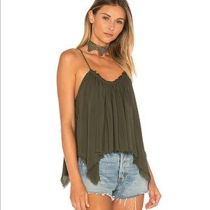 Blue life Thalia cami in olive green size small